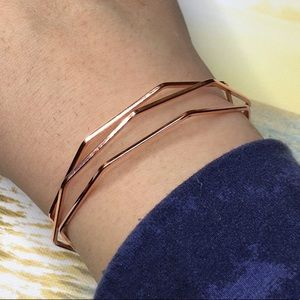 Rose Gold Plated Geometric Bracelet